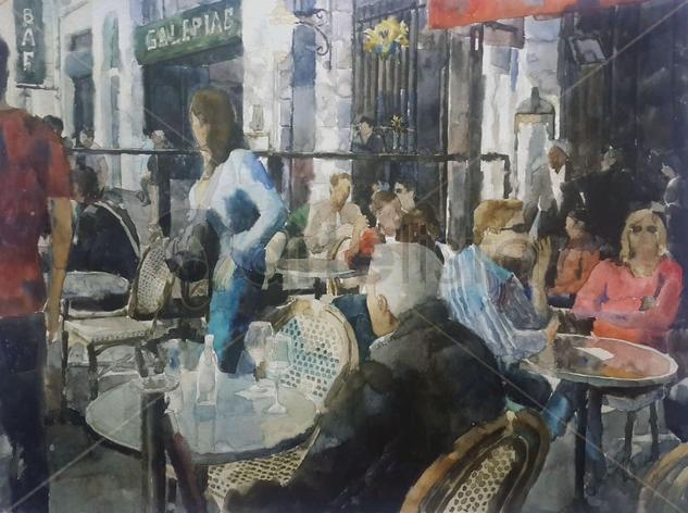 Escena en el Café. Federico Arcangeli