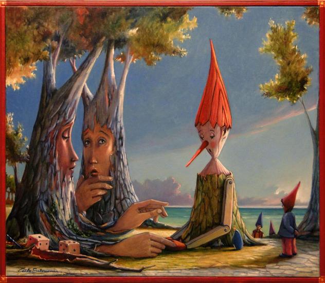 La partida (Pinocho), Carlo Salomoni
