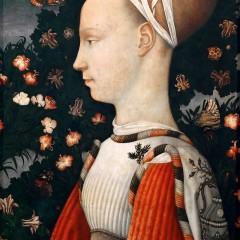Pisanello: retrato de una princesa y tres mariposas