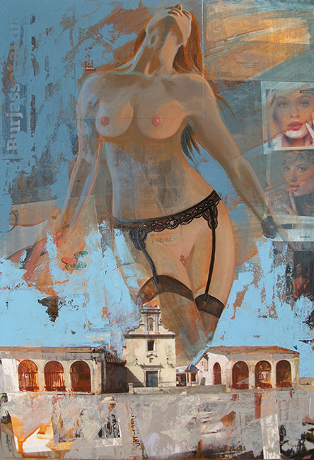 Desnudo sobre Burjassot, J. M. Alguer Romero.