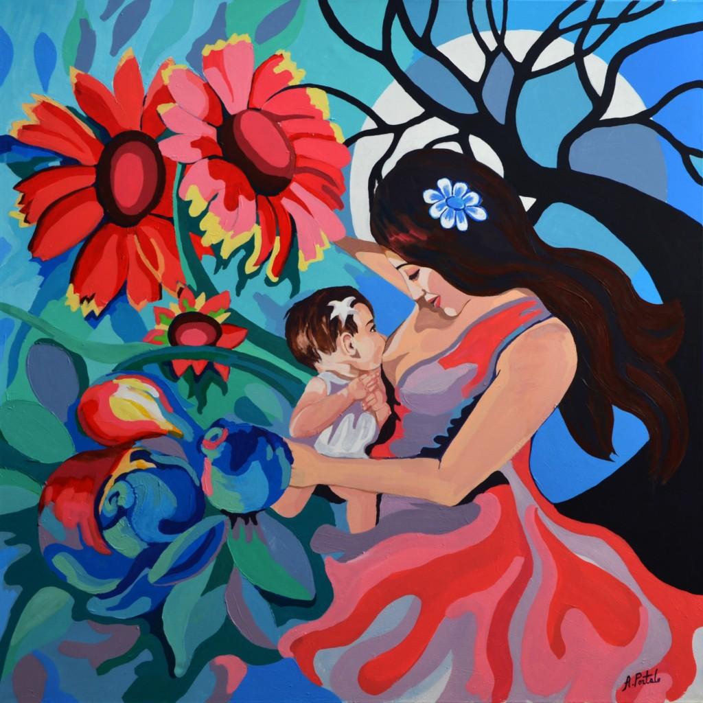 Maternidad I, Antonia Portalo.