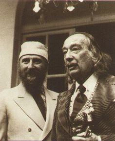 Ernst Fuchs y Salvador Dalí en Barcelona 1974.