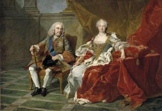 Retrato de Felipe V e Isabel de Farnesio (ca. 1743), Louis-MIchel van Loo, Museo del Prado (Madrid).