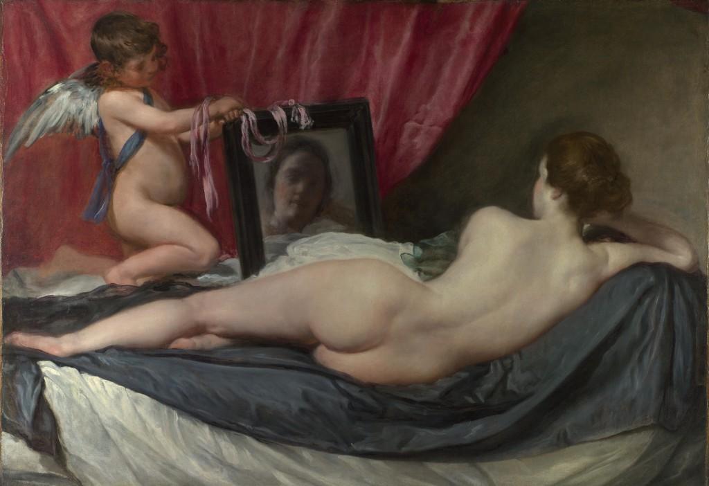 Venus del Espejo (1647 - 1651), Diego Velázquez, National Gallery (Londres).