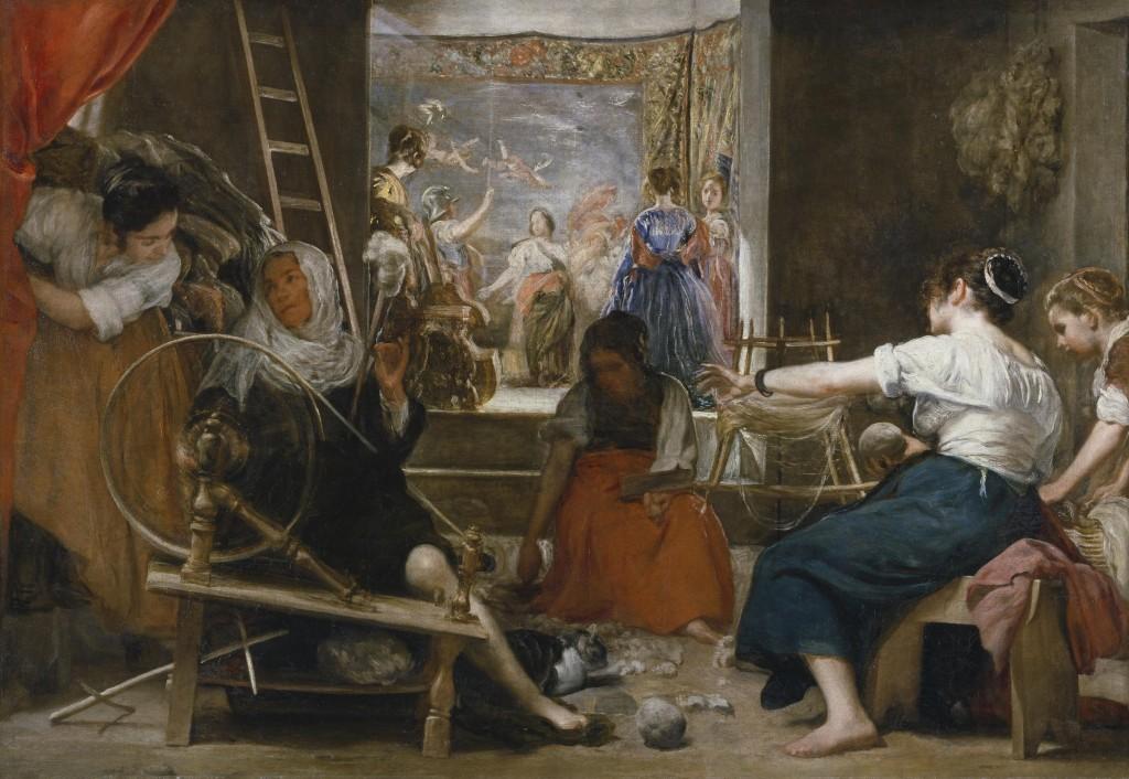 Las Hilanderas (1655 - 1660), Diego Velázquez, Museo del Prado (Madrid).