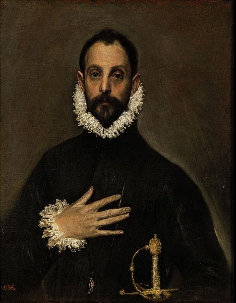 El caballero de la mano en el pecho (1580), El Greco.