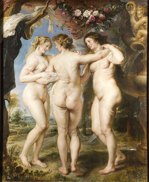 Las Tres Gracias (1635), Pedro Pablo Rubens.
