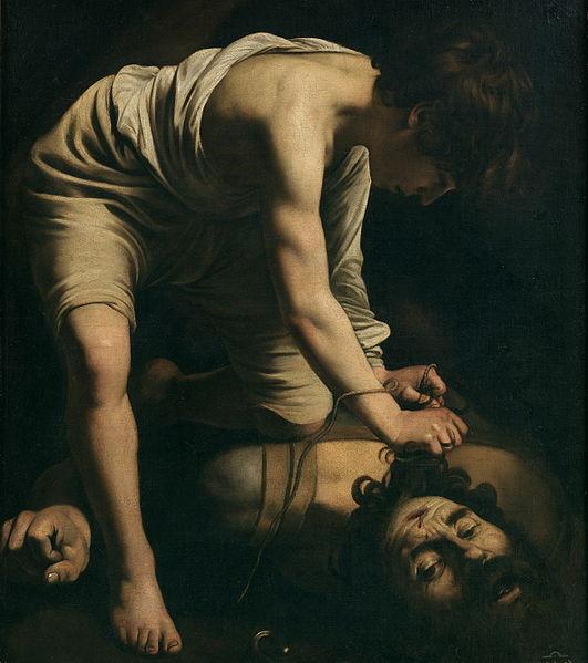 David y Goliat (1600), Caravaggio.