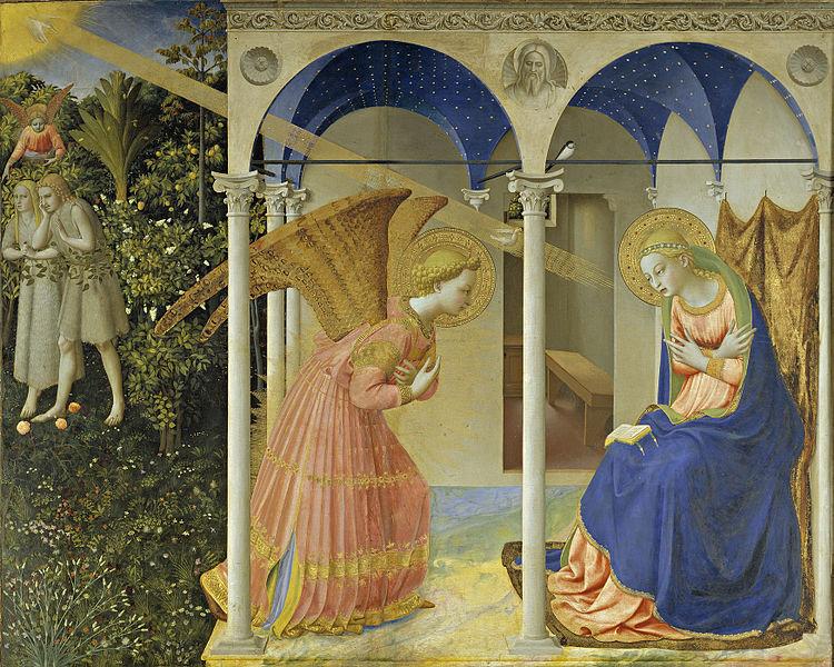 Anunciación (c. 1428), Fra Angelico.