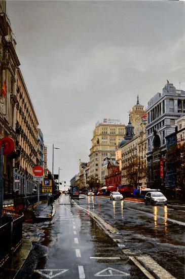 Día de lluvia en Alcalá, Jesús Monge Cebolla