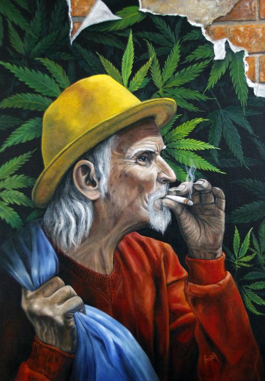 Viejo fumador, José Gabriel Acuña.