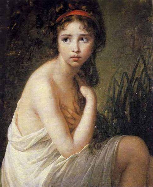 La bañista (1792), Vigée Lebrun.