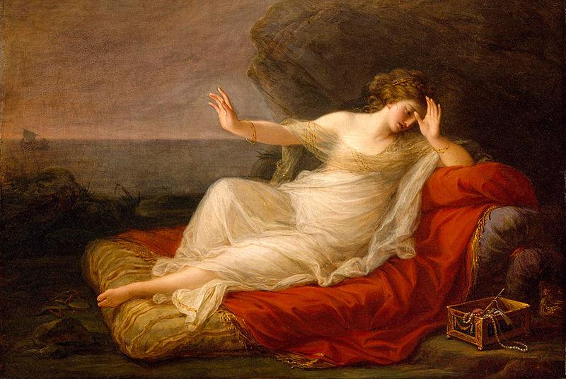 Ariadna abandonada por Teseo (1774), Angelika Kauffmann, Museo de Bellas Artes (Houston).