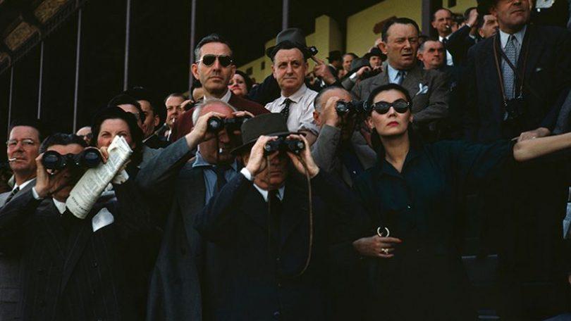 Robert Capa, [Spectators at the Longchamp Racecourse, Paris], ca. 1952. © Robert Capa/International Center of Photography/Magnum Photos