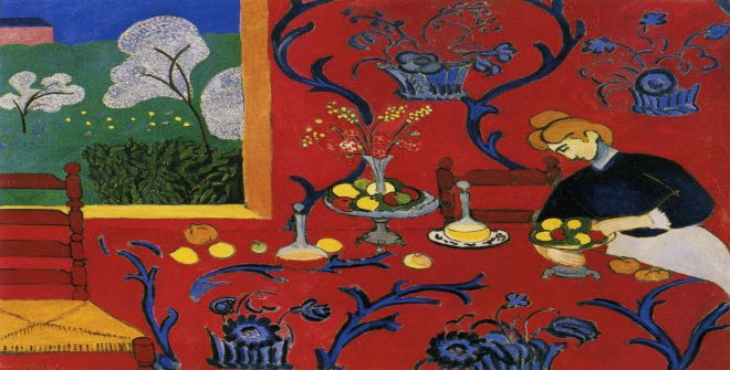 Henri Matisse.The dessert: Harmony in red, 1908. Hermitage Museum, St. Petersburgo.