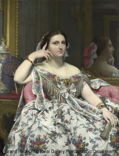 Jean Auguste Dominique Ingres (1780-1867) Madame Moitessier1856 (Oil on canvas).
