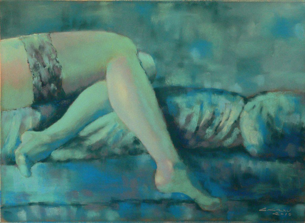 Mujer en azul II, Carlos Casu.