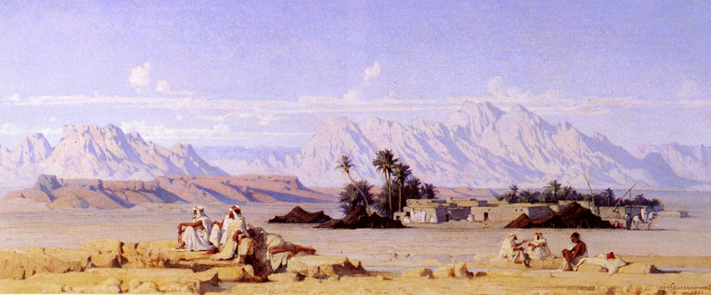 Oasis (1862), Gustave Guillaumet.
