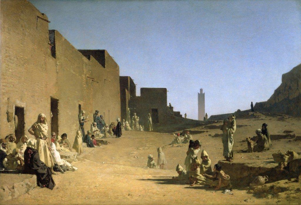 Laghouat, Sáhara algeriano (1879), Gustave Guillaumet.