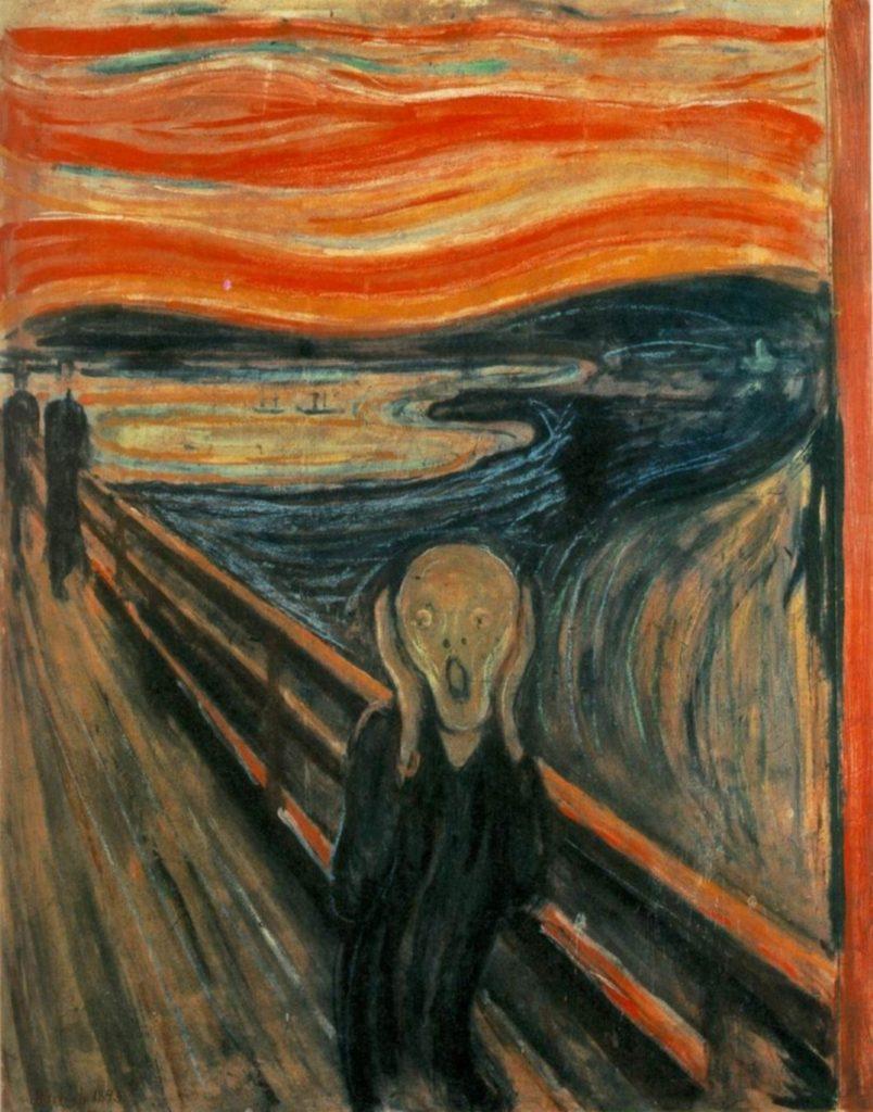 El Grito (1893), Edvard Munch, Galería Nacional de Oslo.