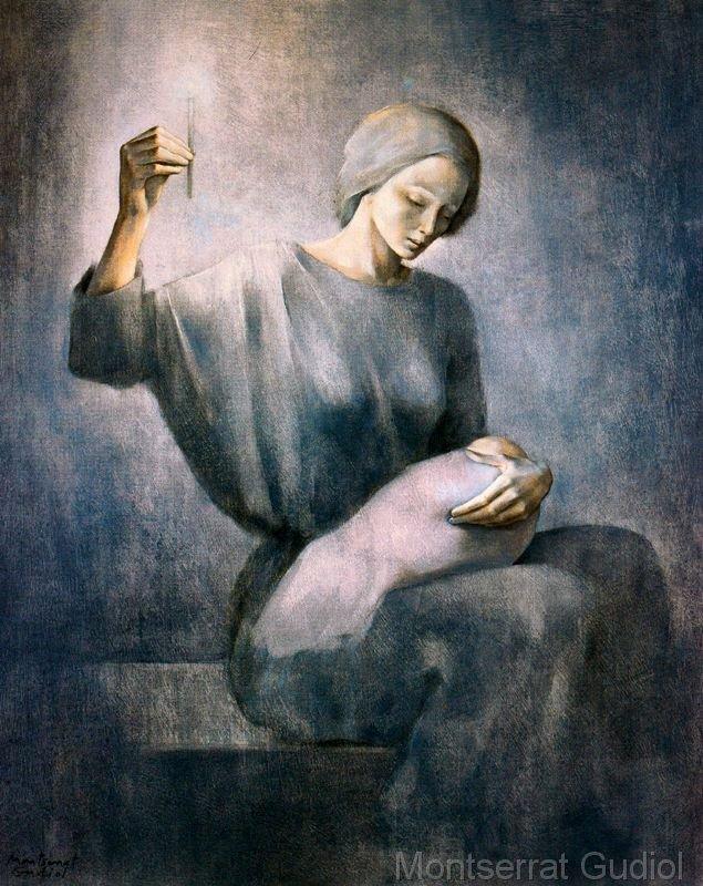 Maternidad azul (1974), Montserrat Gudiol.