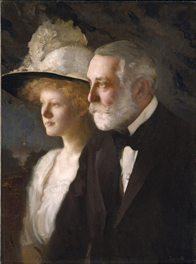 Henry y Helen Frick, retrato de Edmund Charles Tarbell.