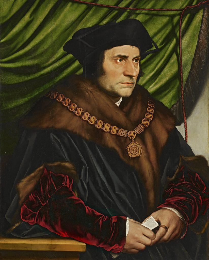 Retrato de Tomás Moro (1527), Hans Holbein en Joven, Frick Collection.