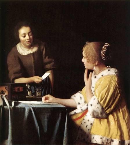 La Carta (c. 1667), Johannes Vermeer, Frick Collection.