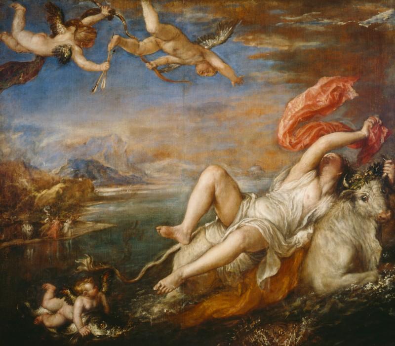 El rapto de Europa (1560 - 62), Tiziano, ISG Museum (Boston).