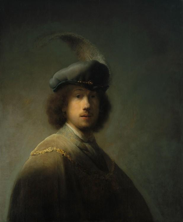 Autorretrato a los 23 años (1639), Rembrandt, ISG Museum (Boston).