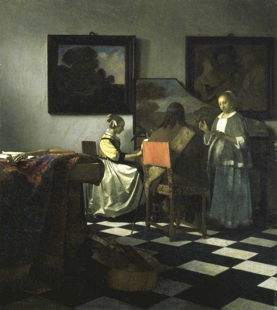 El concierto (c. 1664), Johannes Vermeer. En paradero desconocido desde que fue robado en 1990.