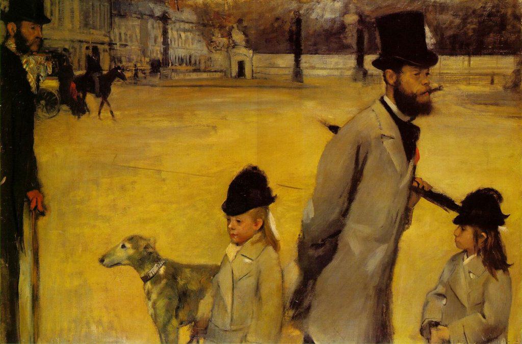 Plaza de la Concordia (1876), Edgar Degas, Museo del Hermitage.