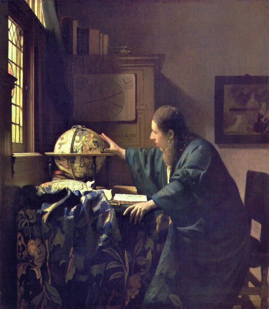 El astrónomo (1688), Johannes Vermeer, Museo del Louvre.