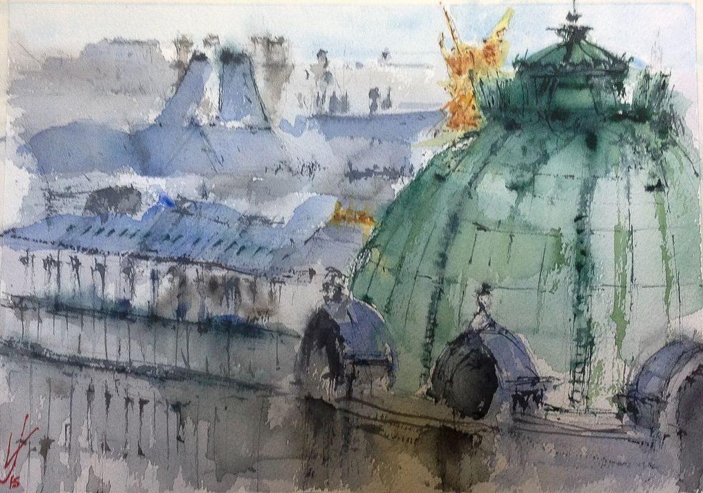 Opera de París desde las Galerías LaFayette, Jacques Villares.