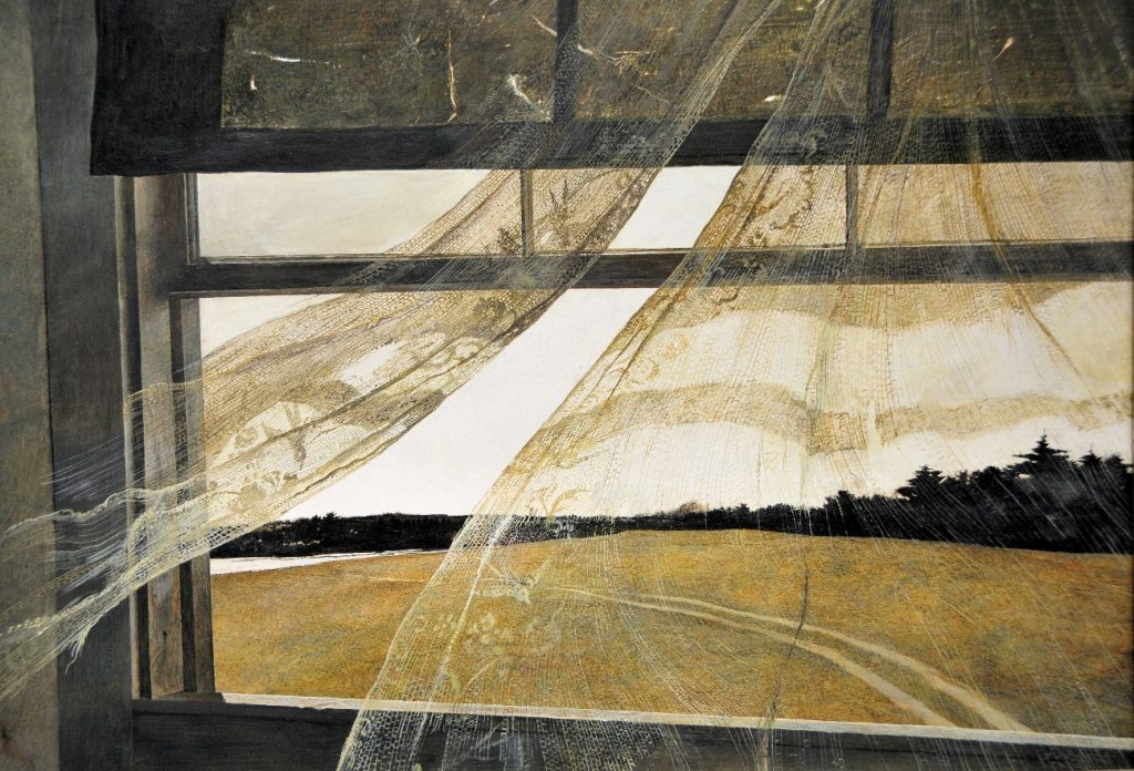 Wind from the sea, Andrew Wyeth, 1947.