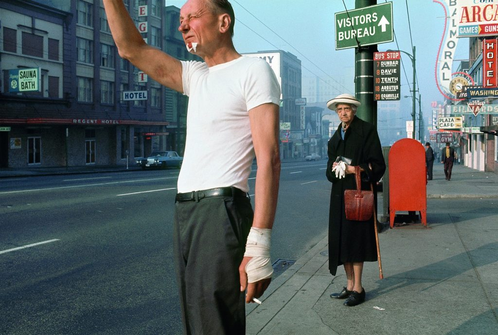 Fred Herzog, Man with bandage, 1968, Courtesy of Equinox Gallery, Vancouver © Fred Herzog,