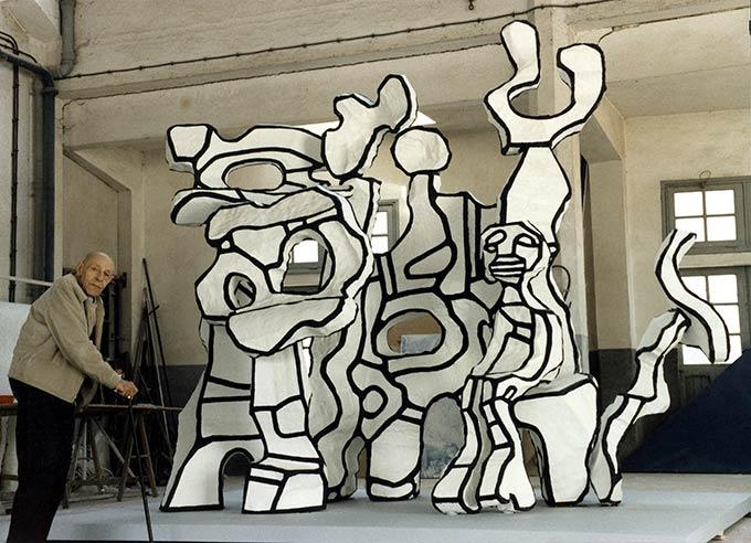Site à l'homme assis (1984), Jean Dubuffet.