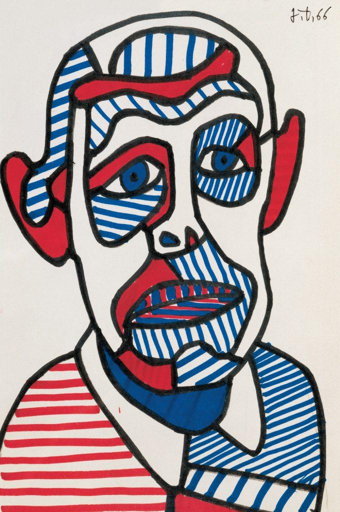 Autorretrato II (1966), Jean Dubuffet.