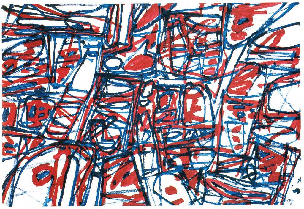 Mire G177 Bolero (1983), Jean Dubuffet.