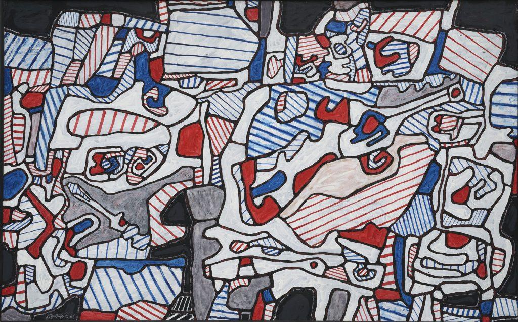 Site Domestique, au fusil espadon (1966), Jean Dubuffet.