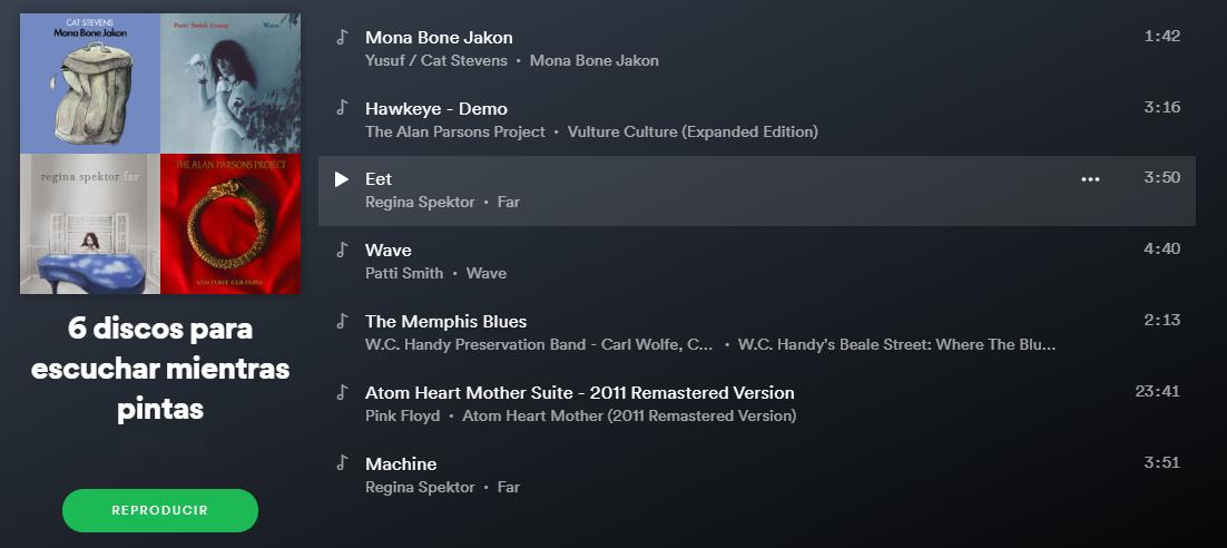 La Playlist definitiva para escuchar mientras pintas