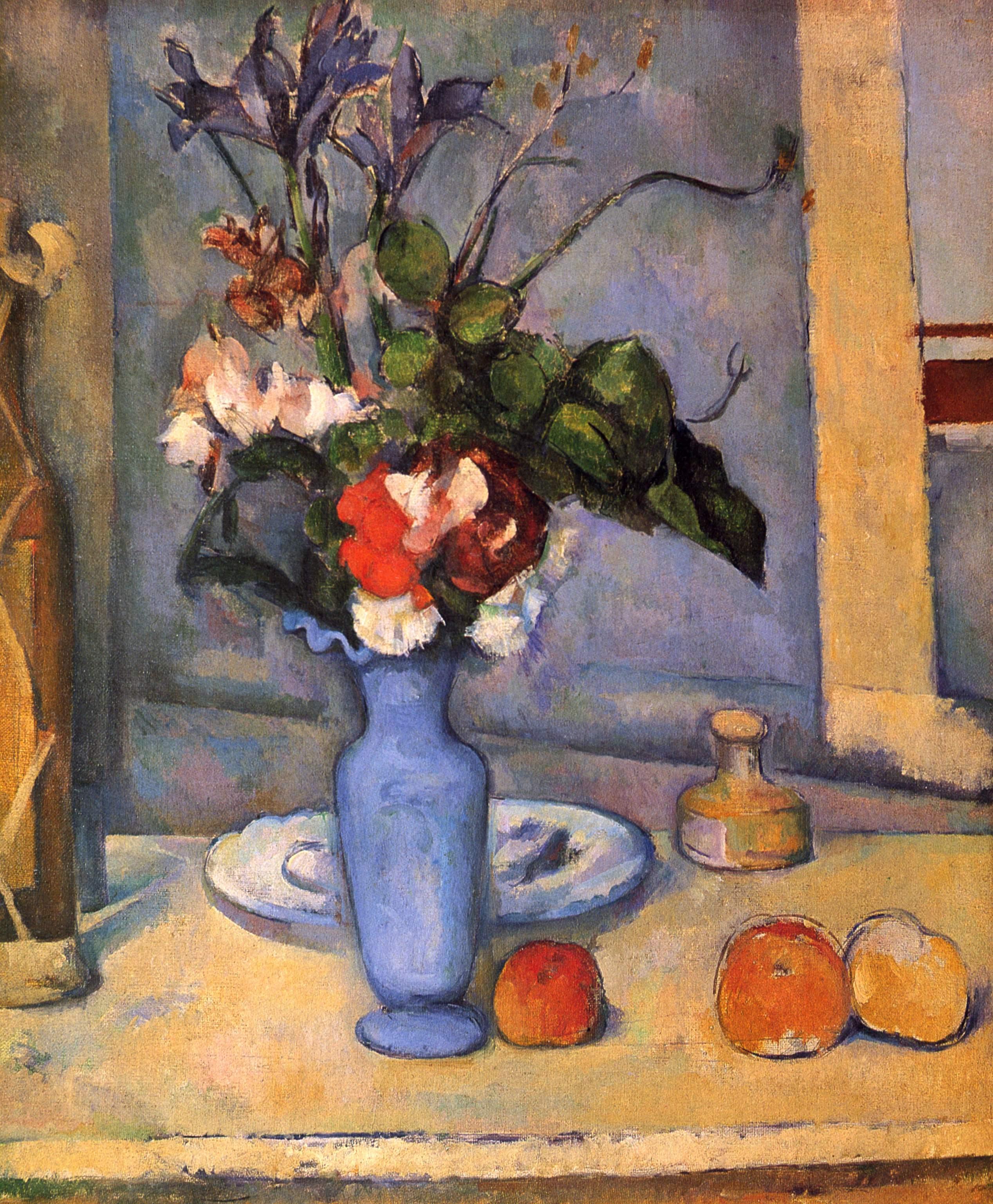 Paul C 233 Zanne Bodeg 243 N Con Vaso Azul Artelista Com