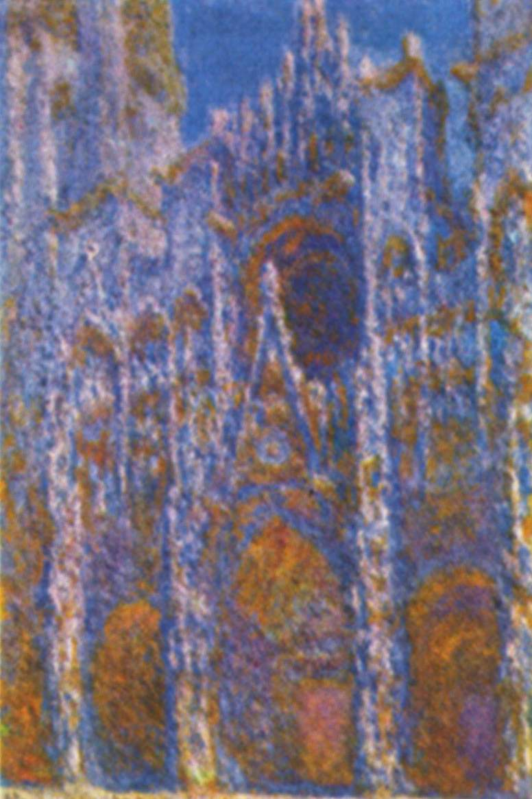 claude monet catedral de rouen portal con el sol de la ma ana armon a en az l. Black Bedroom Furniture Sets. Home Design Ideas