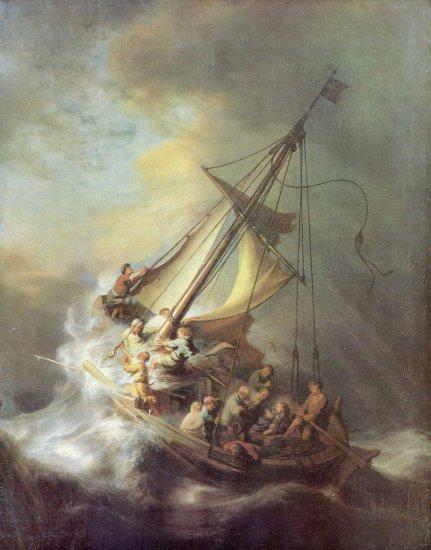 Cristo en la tormenta del mar de Galilea
