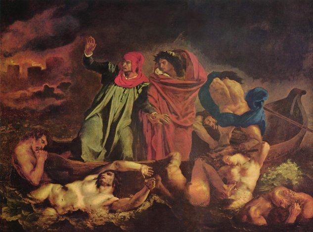 Dante y Virgilio en el infierno (barca de Dante)