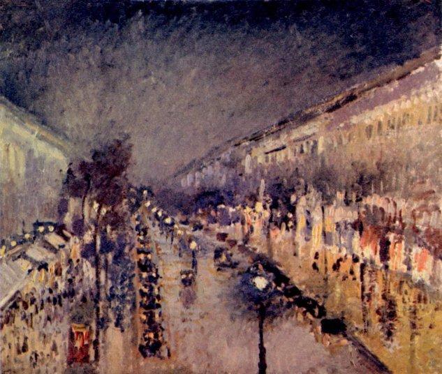 Boulevard Montmartre de noche