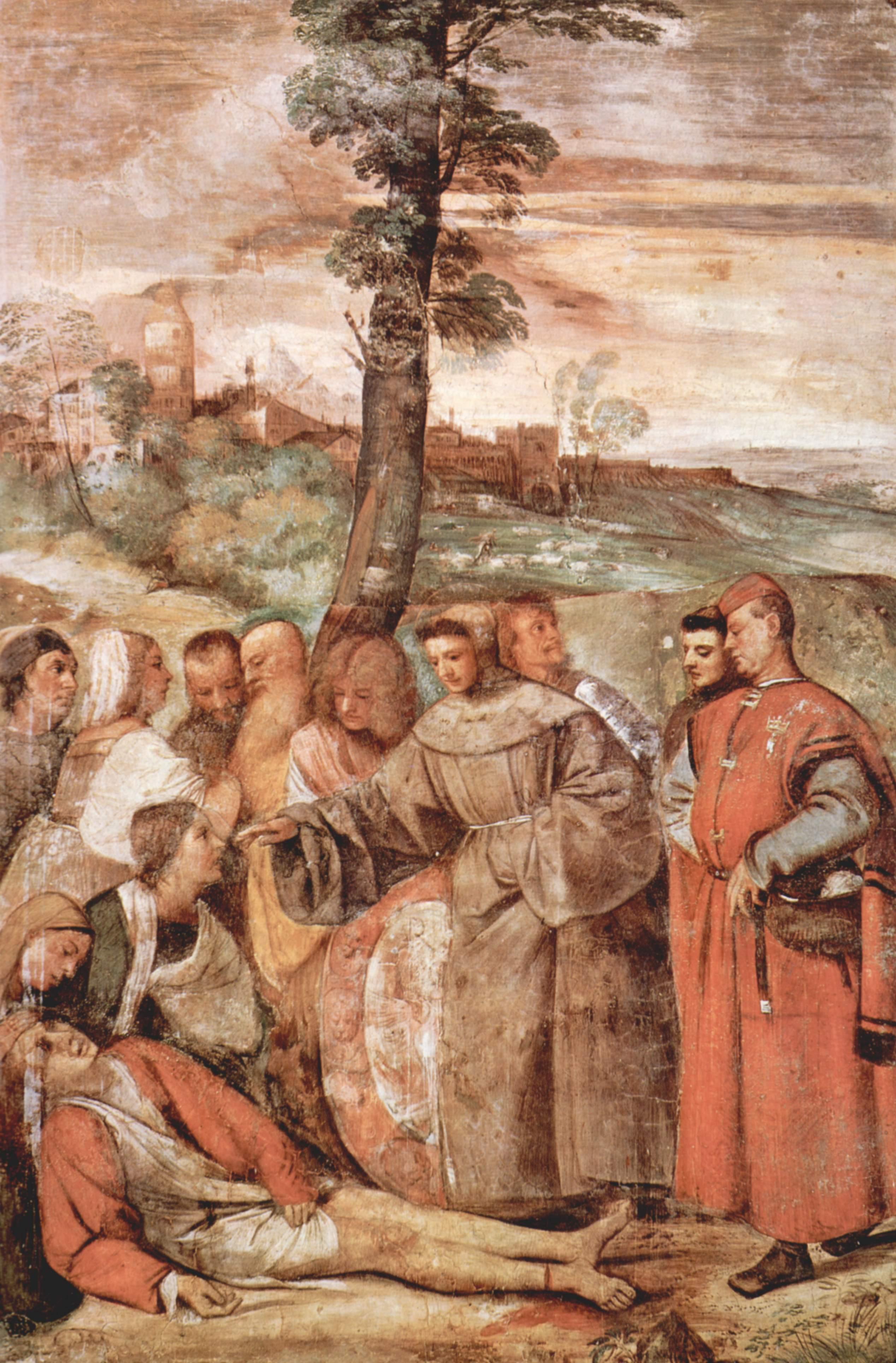 Tiziano Frescos De Los Milagros De San Antonio De Padua