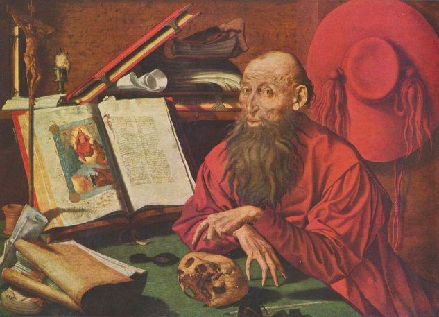 Marinus Claesz. van Reymerswaele: Hl. Hieronymus in einer