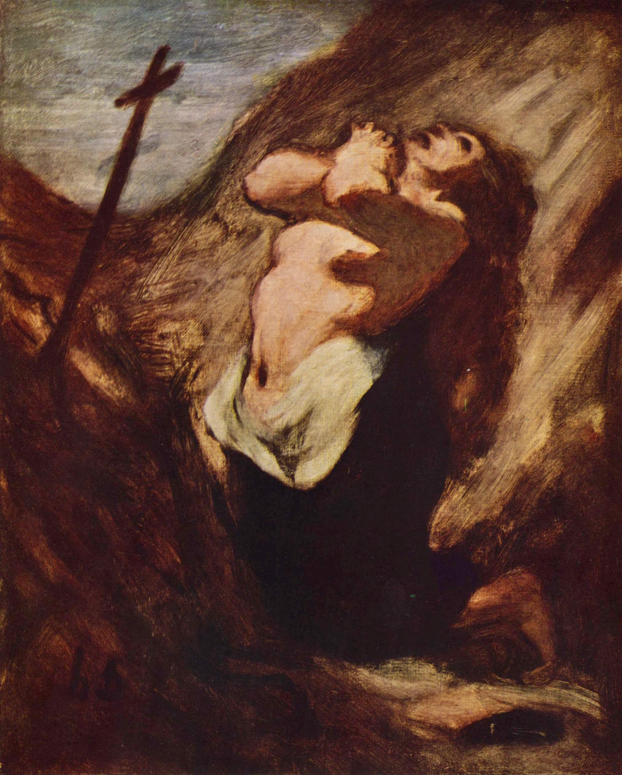 Honoré Daumier - Maria Magdalena   Artelista com