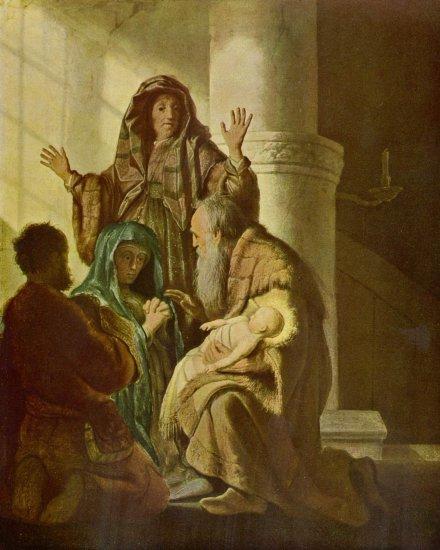 Hanna y Simón en el templo